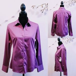 Banana Republic Fitted Button down, Plum size MP💋
